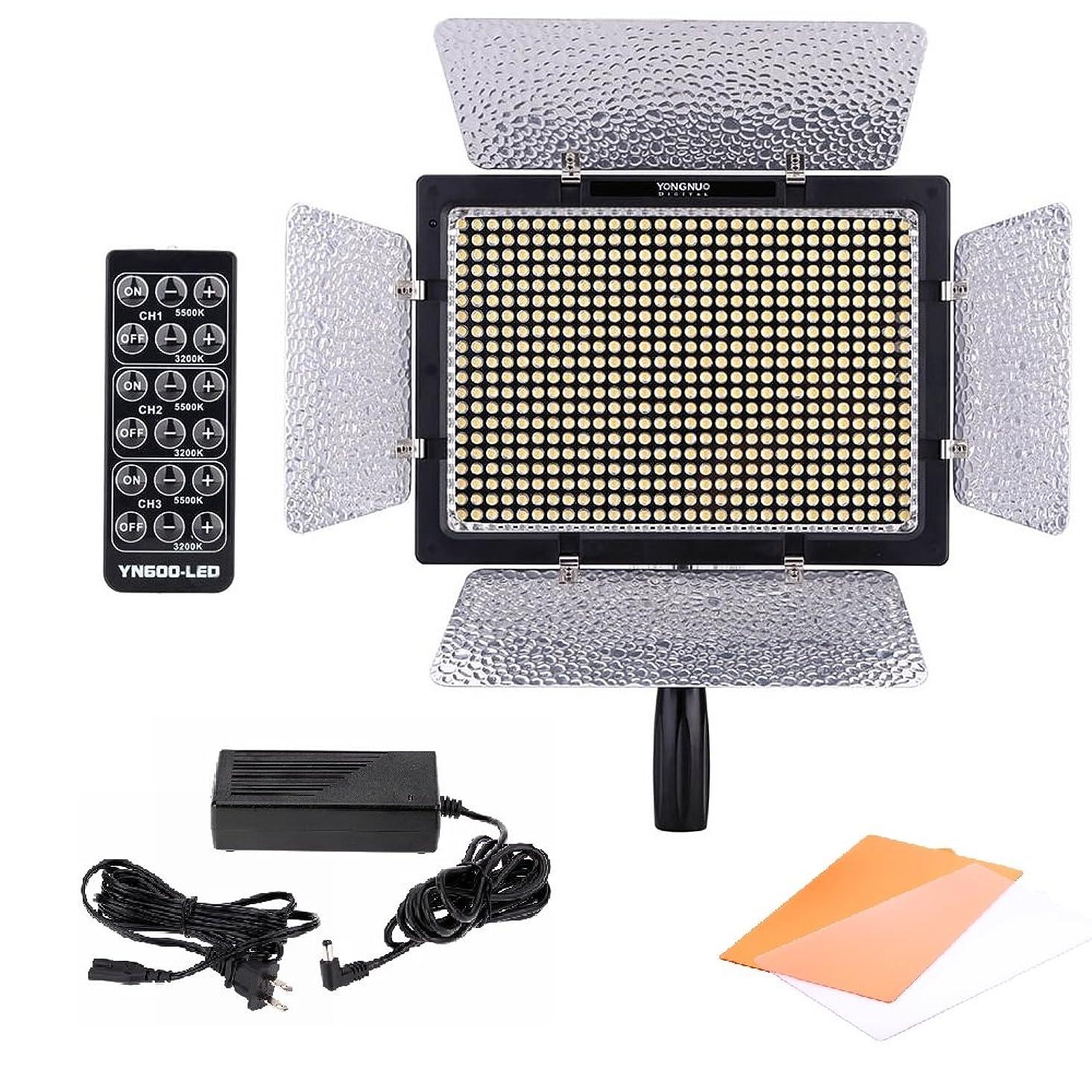 家庭教師実施するキャベツYongnuo 600 LEDビデオライト 600球のLEDを搭載 カメラ&ビデオカメラ用 AC電源アダプター付き