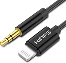Best KINPS Aux to Lightning Cable 4FT, [MFI Certified] 3.5 mm Headphone Jack Adapter Male Audio Cord Compatible with iPhone 12/12 Pro/12 mini/12 Pro Max/11 Pro Max/11 Pro/11/XS/XR/X/8/7 (Black-1 Pack) Review