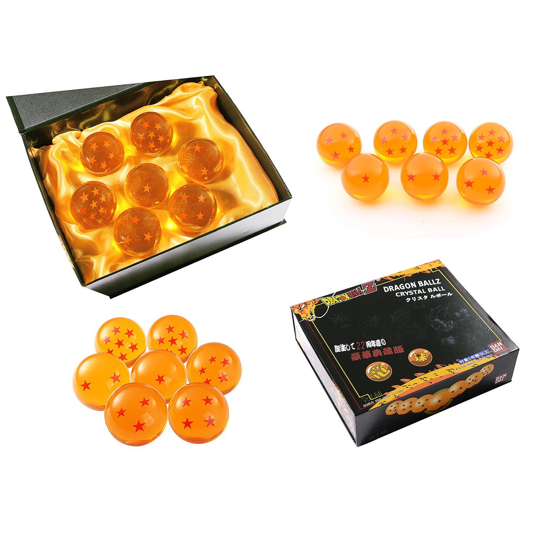 LiHao DragonBall Z - Set de 7 bolas de cristal en estuche de regalo Anime Cosplay (en caja de colección de 4.3 cm): Amazon.es: Electrónica