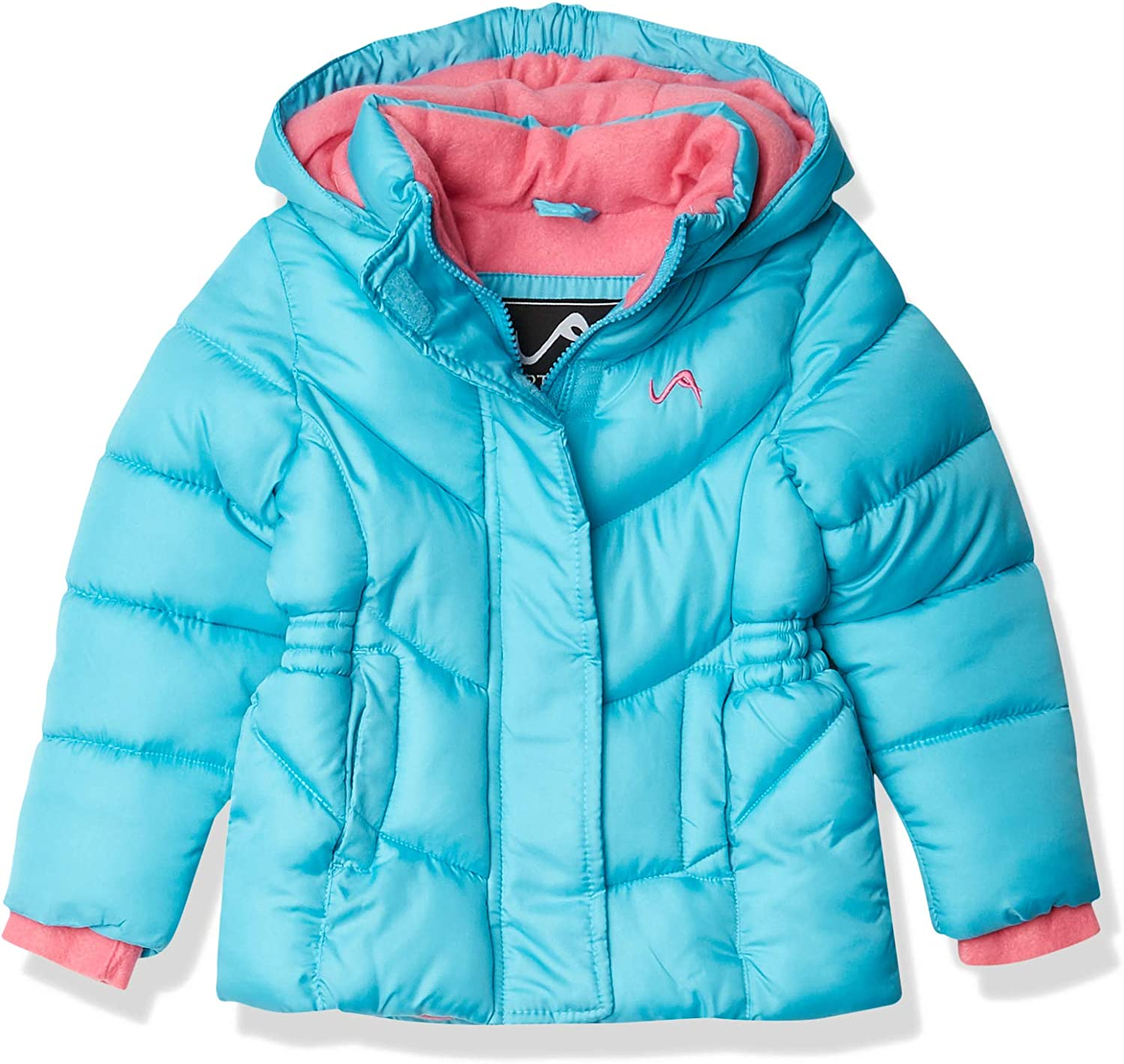 Vertical '9 Girls' Bubble Jacket (More Styles Available), Sky/Pink, 4T