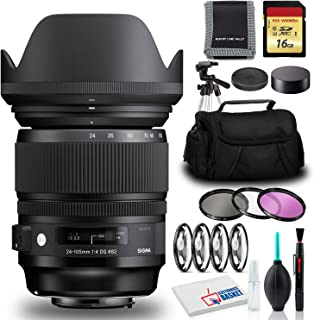Sigma 24-105mm f/4 DG OS HSM Art Lens for Canon EF with Filters, Bag, and More