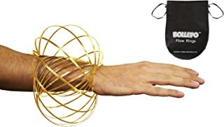 Flow Ring Kinetic 3D Spring Toy Sculpture Ring Game Toy for Kids Boys and Girl … (Gold, 1)