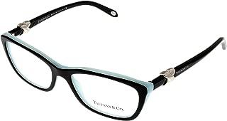 Tiffany & Co. Women Eyeglasses Designer Black Rectangular TF2074 8055