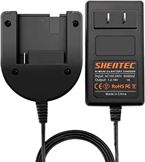 Shentec 1.2V-18V Ni-MH/Ni-Cd Charger Compatible with Porter Cable PC18B PCC489N Slide-in Style Battery (Not for Li-ion Battery)