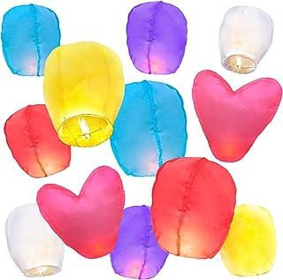 10 Sky Lanterns w/ 2 Free Heart Lanterns, Eco Friendly, Paper Sky Lanterns to release in the sky, Floating Lanterns sky Memorial, Wishing Lanterns, Japanese Lantern