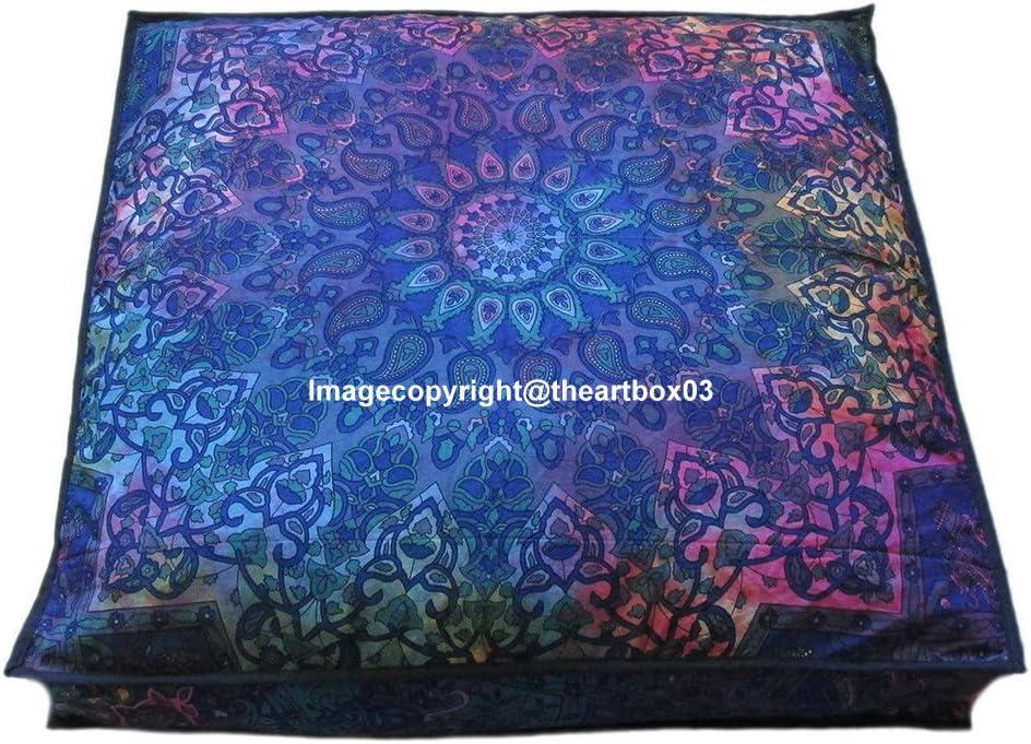 The Art Box Indian Miami Mall Tie Dye Topics on TV Pillow Otto Square Floor Star Mandala