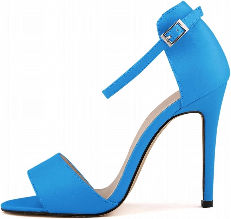 Robert Westbrook Womens Sandals Open Toe Ankle Straps High Heels Summer Pumps Femininos Sandalias 102-2Ma bluee 10