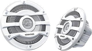 2 Kenwood 8 Inch 300 Watt Powersports/Marine Boat White Speakers   KFC-2053MRW