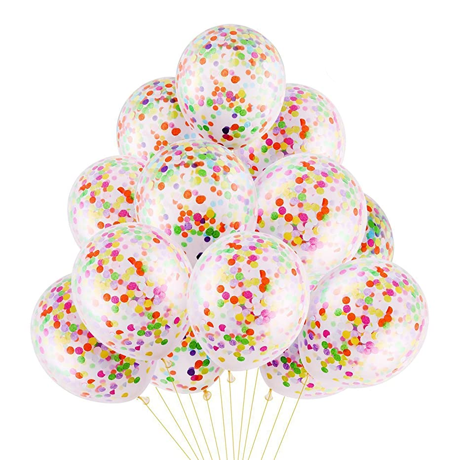 DECORA 8 Pieces Colorful Confetti Balloon 12 inch for Graduation Party and Birthday Party Decorations