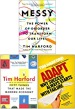 Tim Harford Collection 3 Books Set (Messy [Hardcover], Fifty Things that Made the Modern Economy, Adapt Why Success Always...
