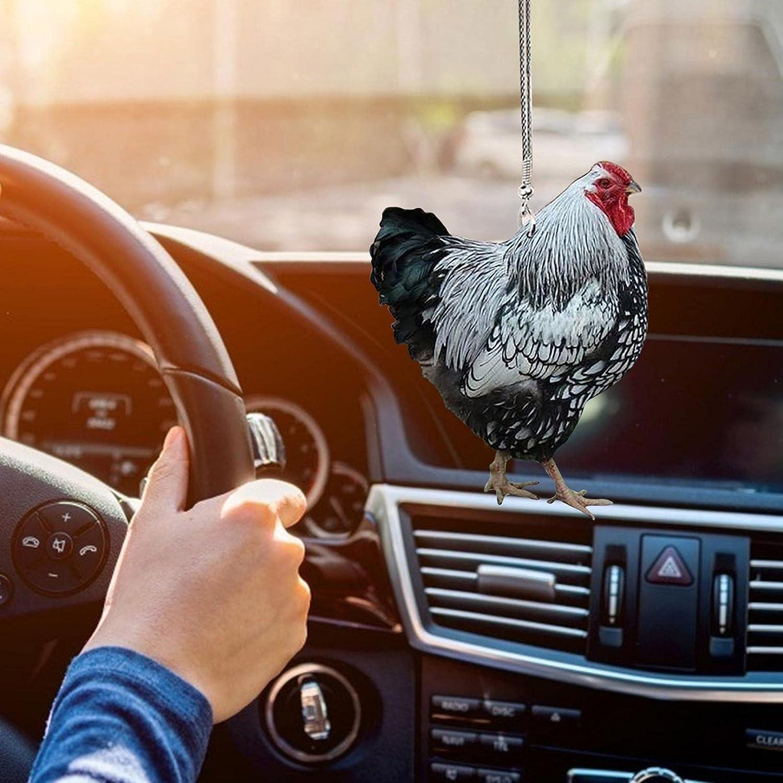 Hahn Auto H/äNgende Verzierung Mit Buntem Ballon Auto H/äNgenden Zubeh/öRspiegel Anh/äNger Auto Dekor Kreative S/ü/ßE Hahn Auto Innenanh/äNger A Auto H/äNgen F/üR Auto Innenzubeh/öR