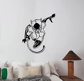 Catwoman Wall Art Decal Vinyl Sticker Comics Superhero Decorations for Home Housewares Playroom Kids Girls Room Bedroom Cartoon Decor ctw11