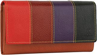 K London Women's Leather Wallet (Camel) (Az04_Camel)