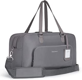 BAGSMART Duffle Bag Large Weekender Overnight Bag with Shoe Bag, can Hold 15.6 inch Laptop, Carry-on Bag for Travel, Gym, Work, 27L