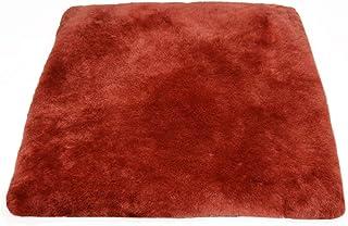 Cojín para sentarse piel de cordero EL LUJO rojo (Manta para la silla de ruedas / Cama para el gato)