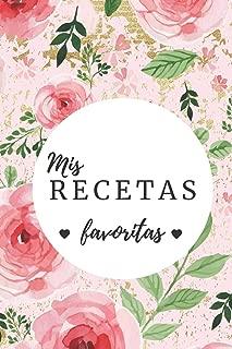 mis recetas favoritas: cuaderno en blanco para anotar las recetas favoritas con una bonita portada con lunares negro y flores (Spanish Edition)