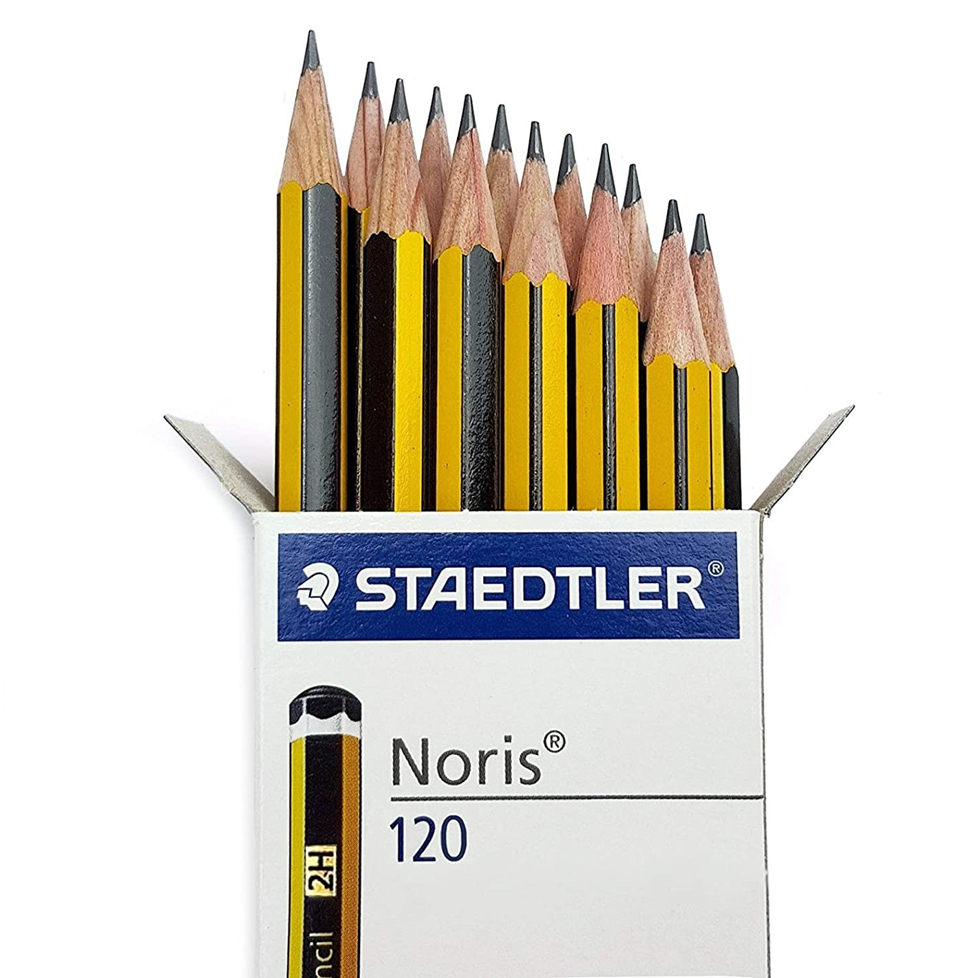 STAEDTLER NORIS 2H SCHOOL PENCILS 2H GRADE [Box of 36]