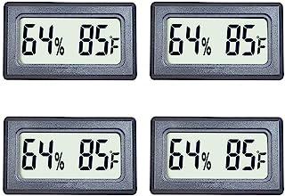 Veanic 4-Pack Mini Digital Thermometer Hygrometer Meters Gauge Indoor Large Number Display Temperature Fahrenheit (℉) Humi...
