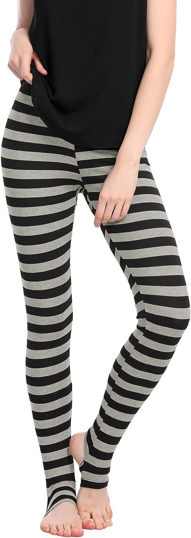 Allegra K Women's Leggings High Waist Elastic Waistband Yoga Stirrup Pants