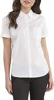 Women's Stretch Poplin Button-up Short Sleeve Shirt