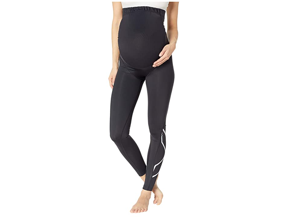 Image of 2XU Pre-Natal Active Compression Tights (Black/Silver) Women's Casual Pants