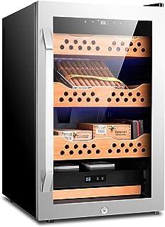 Elektrisk cigarr luftfuktare kylare konstant temperatur med luftfuktighet justering cigarr skåp (silver)