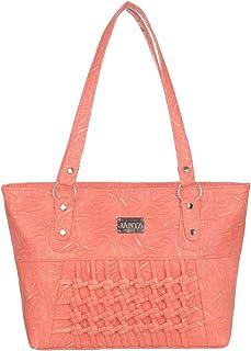 Janta PU Leather Women Shoulder Bag (Orange-3298)