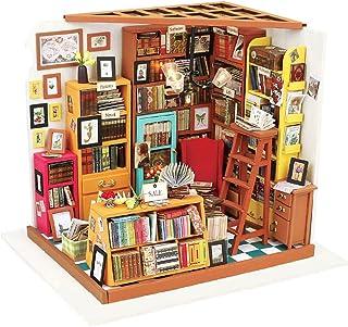 comprar comparacion Rolife Miniature Dollhouse Kit DIY Biblioteca de Madera Modelo de casa para niñas y niños niños 14 15 16 17 años de Edad h...
