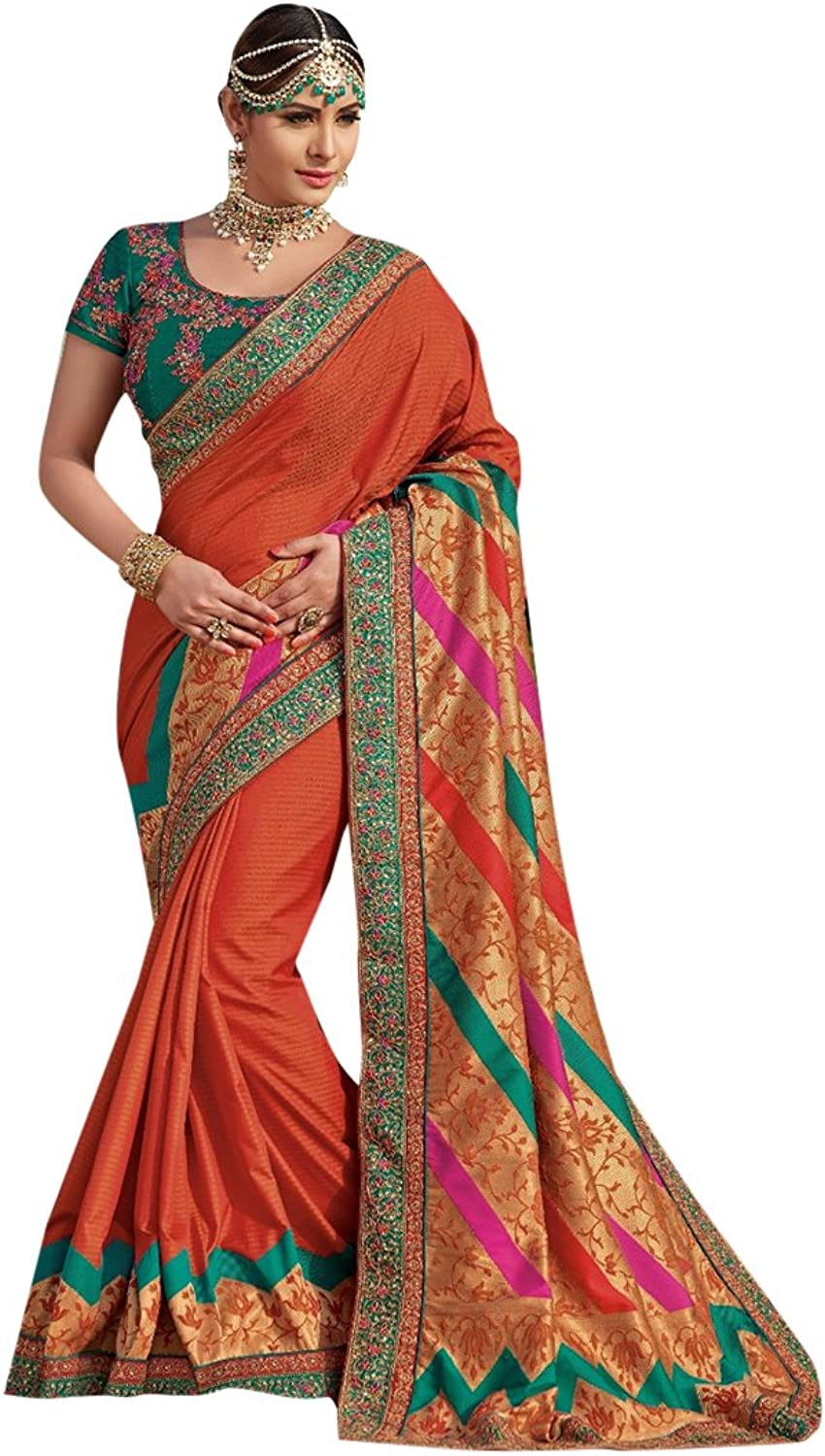 Bollywood Bridal Saree Sari for Women Collection Blouse Wedding Party Wear Ceremony 822