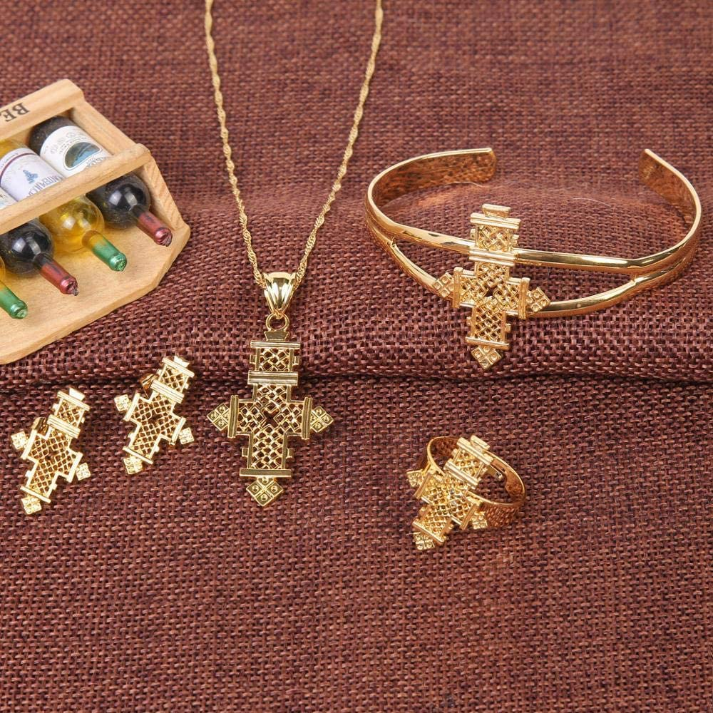 BESI Trendy Ethiopian Eritrea Habesha Cross Jewelry Sets for African Women Traditional Holiday Party Jewelry