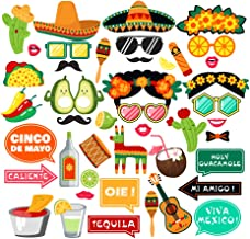 LJCL Fiesta Photo Booth Props,Mexican Fiesta Party Supplies,Mexican Photo Booth Props,Taco Bout A Baby Party Decor Favor