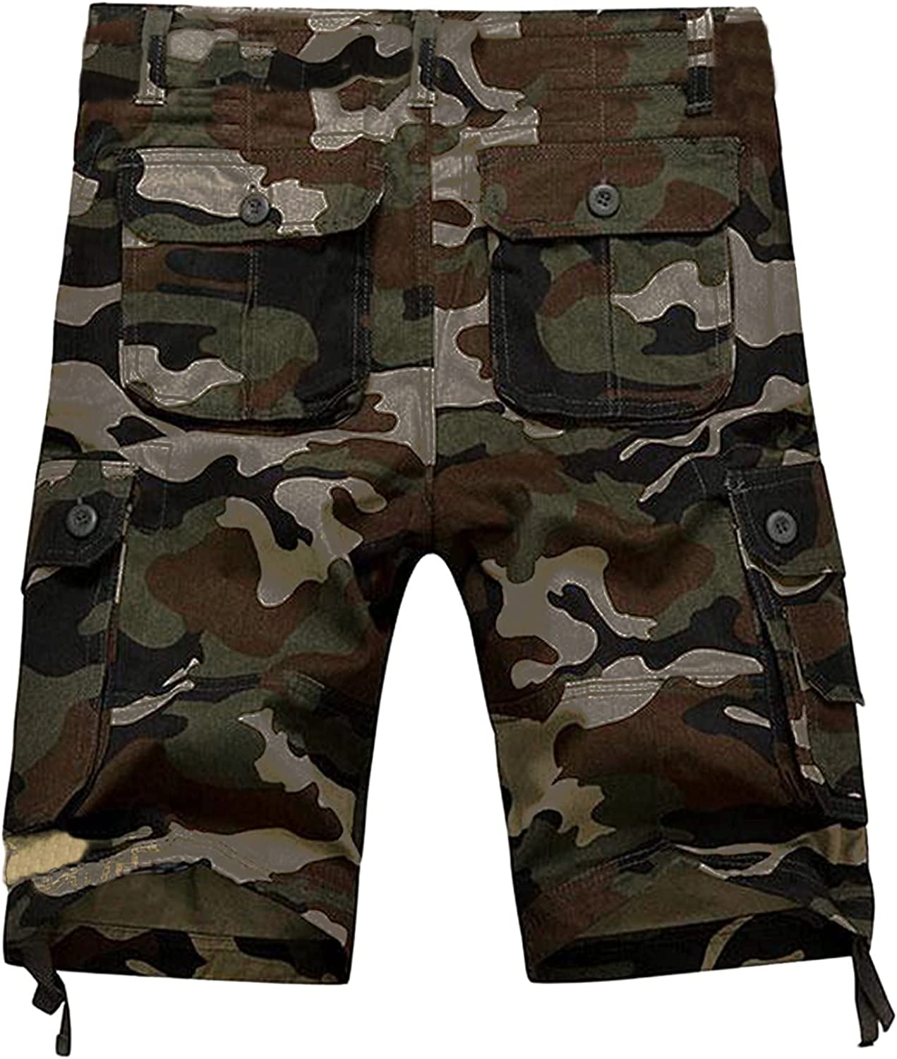 Men's Camouflage Color Shorts Camping & Hiking Leisure with Zipper Pocket Skinny Jeans Overalls