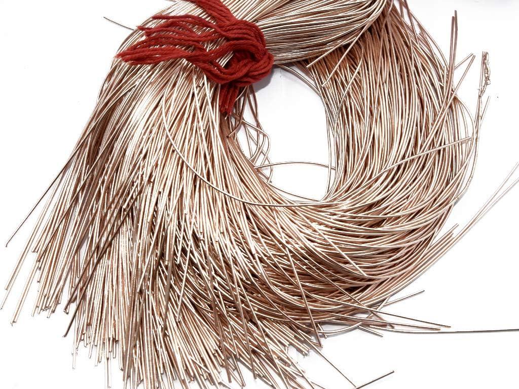 Zardosi Embroidery and Jewellery Work 100 Grams The Design Cart Dapka//Dabka//French Wire for Aari Chocolate Brown