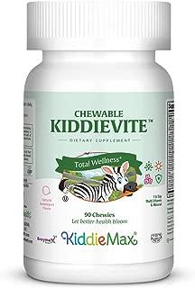 Maxi Health Chewable KiddieVite - Multivitamins & Minerals - Bubble Gum Flavor - 90 Chewies - Kosher