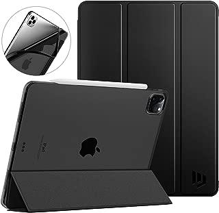 iPad Pro 12.9 ケース Dadanism iPad Pro 12.9 2020 NEW モデル タブレットケース 全面保護型 半透明 TPU ソフト 三つ折りスタンド 薄型 オートスリープ機能 スマートカバー キズ防止開閉式 衝撃吸収 Black