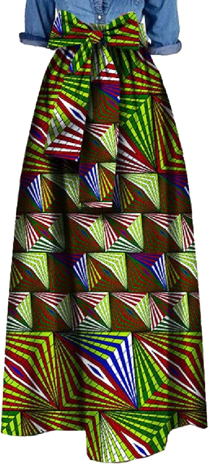Tootca Women Textured African Style Tummy Control Lined ALine Skirt