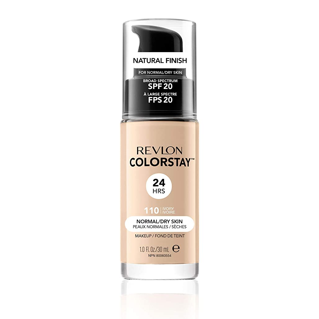 ポーズライセンス広々としたRevlon ColorStay Foundation for Normal/Dry Skin, 110 Ivory with pump