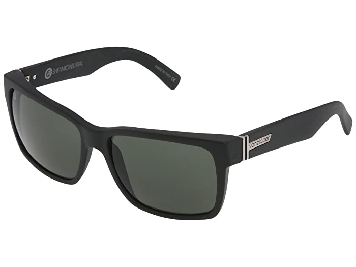 VonZipper Elmore S.I.N. (Black Satin/Grey) Fashion Sunglasses