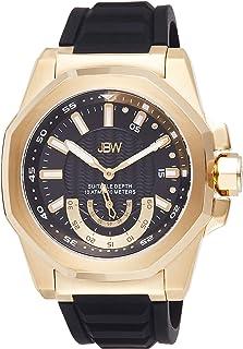 JBW Luxury Men's Delmare Diamond & Slip-Resistant Silicone Bracelet Watch 5ATM - J6359D