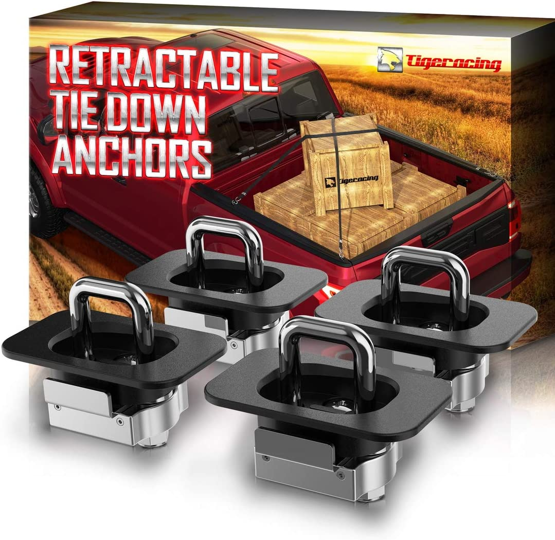 Tigeracing Tie Down Anchors Retractable Selling Truck Side Bed Top Rin D Luxury