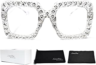 SamuRita Elton Square Diamond Rhinestone Sunglasses...