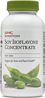 GNC SuperFoods Soy Isoflavone Concentrate, 90 Capsules, Supports for Bone and Heart Health