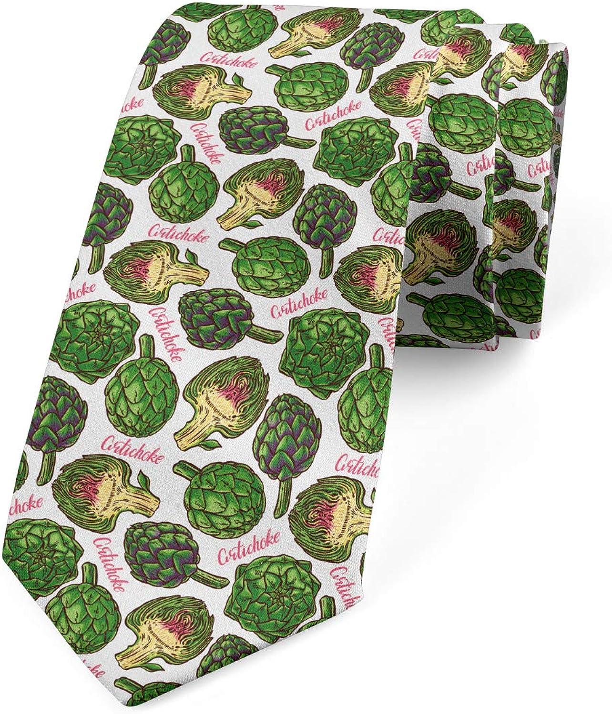 Ambesonne Men's Tie, Super Food Organic, Necktie, 3.7