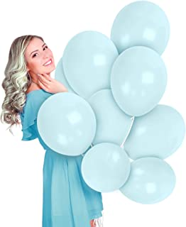 Pastel Light Macarons Blue Balloons 36 Pack 12 Inch Latex Galaxy Sky Snowflake Nautical Mermaid Gender Reveal Girl or Boy Party Supplies Bridal Baby Shower Birthday Engagement Bulk Decorations
