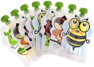 Dreamseeker Reusable Sealed Food Supplement Storage Bag, 8 Sticks of Homemade Fruit Puree