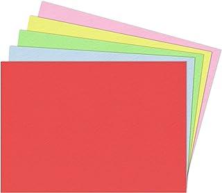 5 Couleurs, A5 300 g/m² Papier Cartonné, 50 feuilles