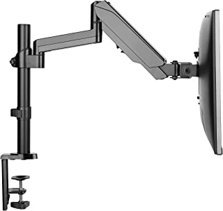 Rife Gas Spring Desktop Arm/Fully Adjustable/Tilt/Articulating Mount for Screen up to 27-inch, Upto 6 kg
