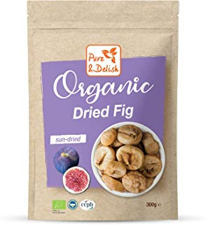 DRIED FIG, ORGANIC, VEGAN, GLUTEN FREE, NO PRESERVATIVES, SUN DRIED, RAW, 300 g