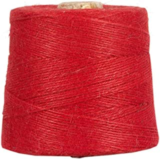 Jutegarn, Rot, 1 kg, ca. 500 m Juteschnur, 100% Jute, auf Pappspule