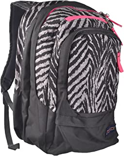 JanSport Air Cure Backpack - Grey Tar Wild At Heart / 18H x 13W x 12D